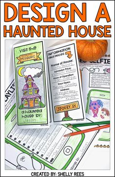 Halloween Project-Based Learning for math and reading for and grades has never been more fun and engaging! Use the Design a Haunted House PBL unit to make October math more creative. Teachers and students love this Halloween activities unit! by jacquelyn Halloween Activities, Halloween Projects, Holiday Activities, Easy Halloween, Halloween Worksheets, Fun Craft, Reading Activities, 4th Grade Activities, Fun Classroom Activities
