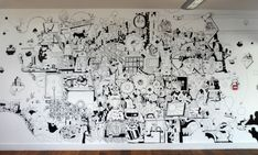 Image result for flat design characters black and white wall mural