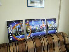 METROPOLITAN 1 Mod de realizare : acril pe panza Dimensiune : 110 X 40 cm Format : 3 bucati Lucrare disponibila dumitruciocan@yahoo.com Acrylic Paintings, 3, Flat Screen, Frame, Home Decor, Homemade Home Decor, Flat Screen Display, A Frame, Frames
