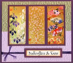 SC508 - Butterflies and Fans by helekins - Cards and Paper Crafts at Splitcoaststampers
