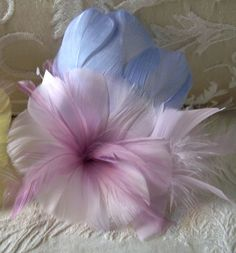 Feather Flowers Lavender, Blue Pastel Hibiscus Flower
