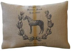 Polkadot Apple Pillows Feedsack Horse Burlap Pillow, This pin contains an affiliate link. Contemporary Decorative Pillows, Equestrian Chic, Burlap Pillows, Feed Sacks, Equine Art, Polka Dots, Reusable Tote Bags, Horses, Apple