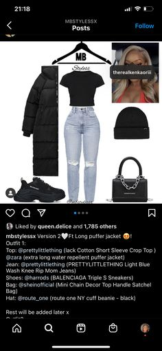 Dope Outfits, New Outfits, Shoes With Jeans, Puffer Jackets, Cotton Shorts, Ripped Jeans, Crop Tops, Fashion Design, Clothes