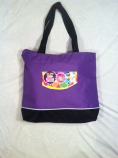 cool Loom Band Large Tote Bag-purple- (Perfect for Carrying All of Your Colorful Rubber Bands Loom Accessories) BUY 2- GET 1 FREE!!!