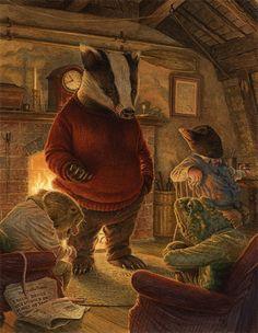 Chris Dunn Illustration/Fine Art - A magical Illustration for a magical story Chris Dunn, Art Fantaisiste, Art Mignon, Gnome, Fairytale Art, Children's Book Illustration, Badger Illustration, Food Illustrations, Whimsical Art