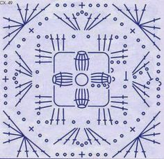 Diagrama crochet de grannys