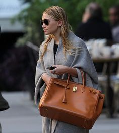 The Many Bags of The Olsen Twins, giant tan Hermes Birkin