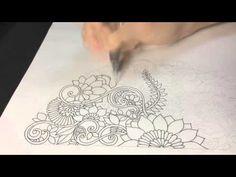 How to draw Botanical doodle zentangle #12 - YouTube