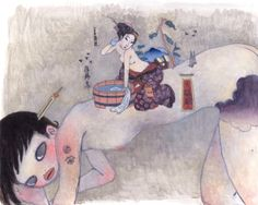 Aya Takano, Untitled, Acrylic on canvas, 73 x 92 cm Art And Illustration, Aya Takano, Modern Art, Contemporary Art, Japanese Modern, Modern Asian, Superflat, Art Drawings Beautiful, Inspirational Artwork
