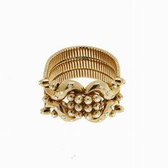 BRACCIALE, ITALIA, ANNI CINQUANTA  - oro giallo e diamanti #2 ASTA ONLINE - Gioielli del Novecento - Lotto n. 28 #auction #jewels #jewelry #diamonds #FIFTIES #bracelet #italy #florence #rich