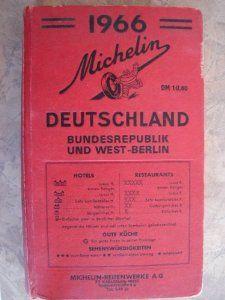 1966 Michelin Deutschland - Maps nd Tourism Guide - Bundesrepublik and West Berlin . $14.45
