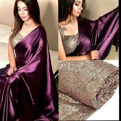 Trendy Sarees, Stylish Sarees, Fancy Sarees, Stylish Dresses, Saree Jacket Designs, Silk Saree Blouse Designs, New Saree Designs, Blouse Patterns, Indian Bridal Outfits