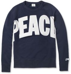 Acne College Peace Loopback-Cotton Sweater | MR PORTER