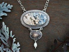 Blue Whale Necklace  Multi-Stone Dangling Pendant by GatherAndFlow