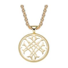 Natalie Wood Designs  Gold-Plated Logo Pendant Necklace ($78) ❤ liked on Polyvore featuring jewelry and necklaces