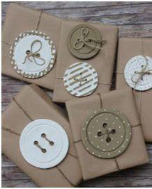 Kifli és levendula: Gombdíszek More gift packaging Funky Gifts, Diy Gifts, Useful Gifts, Cool Gifts, Christmas Gift Wrapping, Christmas Gifts, Kids Christmas, Diy Holiday Cards, Cards Diy