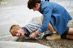 Jungkook man handling Tae I love this concept