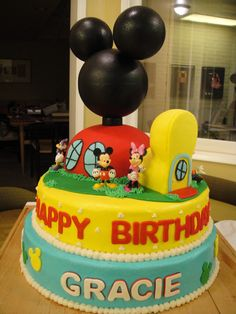 Mickey+Mouse+Club+House+-+My+Daughter's+3rd+Birthday+cake.