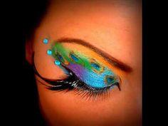 ''SHORT VIDEO'' - Peacock inspired make-up.