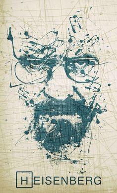 Heisenberg Chronicles — Walter White by Fernando de Carabassa in. Breaking Bad Poster, Affiche Breaking Bad, Art Breaking Bad, Walter White, Heisenberg, Breking Bad, Creation Art, Film Serie, Best Tv Shows