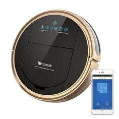 Proscenic [Upgraded Version] Robot Vacuum Cleaner, Robotic Vacuum Cleaner with APP & Alexa Voice Control, Visionary Map, Water Tank and Mopping, HEPA Filtration for Pet Fur and Allergens Smartphone, Wifi Connect, Alexa Voice, Canister Vacuum, App Control, Hepa Filter, High Fashion Home, Rugs On Carpet, Products