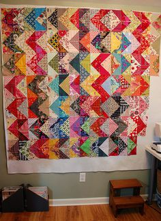 Scrappy Zig Zag, another interesting quilt made with HST
