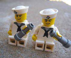 LEGO Sailor Navy Sea Ocean Nautical Cufflink