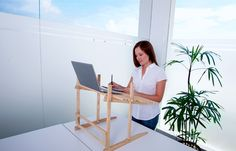 Positive Office EcoDesk Standing Laptop Desk - Yes Please! www.positiveoffice.net Sitting for extended periods leads to a huge range of circulatory, metabolism & orthopedic issues. Thankfully a standing desk can help reduce sedentary time. Stopping sitting can be a great hack to better health & perfect for people in the 30s & up age bracket!