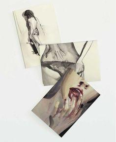 Lips & Laundry Set als Grußkarten-Set von Victoria Verbaan | JUNIQE  https://www.juniqe.de/lips-laundry-set-gift-card-set-of-3-272741.html