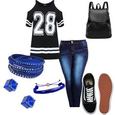 Sporty Chic by ellym-2012 on Polyvore featuring polyvore fashion style City Chic Vans Swarovski Domo Beads AtStyle247