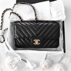 Chanel Chevron Mini Flap bag  |  pinterest: @Blancazh