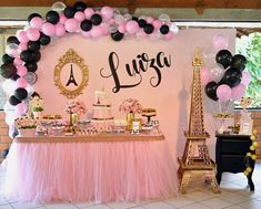 Music party decorations kids Ideas for 2019 Chanel Birthday Party, Paris Themed Birthday Party, Birthday Party Desserts, Music Themed Parties, Spa Birthday, Cupcake Party, Paris Quinceanera Theme, Quinceanera Party, Paris Party Decorations
