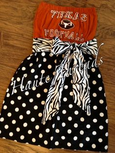 UT Texas Longhorns HORNS Football College by hautethreadsboutique, $70.00.  www.hautethreadsboutique.com