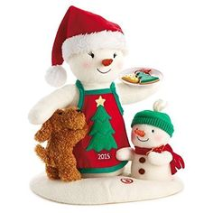 Hallmark Christmas Time For Cookies Snowman Interactive Stuffed Animal: Hallmark Plush snowman snowwoman Snowman Christmas Ornaments, Hallmark Christmas, Christmas 2015, Christmas Cookies, Christmas Stockings, Christmas Decorations, Holiday Decor, Halloween Ornaments, Christmas Stuff