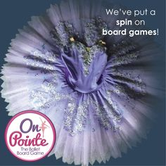 On Pointe is a ballet board game.  Dance your way to the top and collect treasures to score points along the way.  Be first to become Prima to win! Get this new game at onpointegame.com  #tutu #tutuskirt #boardgames #tabletopgames #familygame #ballet #balletcostumes #balletlife Ballet Costumes, Tabletop Games, Games For Girls, Family Games, News Games, Tutu, Board Games, Dance, Gifts