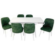 Set masa living Vegas Alba cu scaune de culoare verde Living, Outdoor Furniture Sets, Outdoor Decor, Doors, Table, Home Decor, Green, Decoration Home, Room Decor