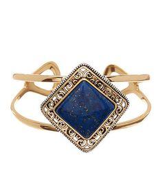 Lapis Lazuli & Two-Tone Cuff #zulily #zulilyfinds