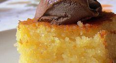 Cake Recipes : Very light, very tasty Revani, Greek Sweets, Greek Desserts, Greek Recipes, Desert Recipes, Sweets Recipes, Cake Recipes, Cooking Recipes, Greek Cake, Greek Pastries