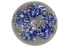 Blue and white Murano Glass Paperweight $59