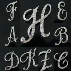 Retro Style Rhinestone Crystal English Letters Wedding Bridal Bouquet Brooch Pin | eBay