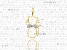 Gato Slim - Pingente em ouro amarelo e diamantes.