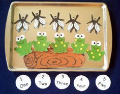 5 Speckled Little Frogs Magnetic Activity Teaching Resource AND Bonus Kindergarten, Preschool Classroom, Preschool Crafts, Crafts For Kids, Frog Activities, File Folder Activities, Preschool Activities, Cookie Sheet Activities, Frog Theme