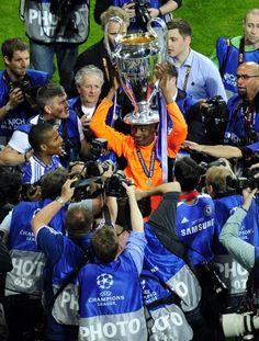 Mayo 19 de 2012 - Una de las mejores imágenes de la final de la Champions League (AFP/ VANGUARDIA LIBERAL)