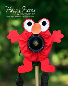 Lens Bling - Elmo - Ready to Ship. $19.00, via Etsy.