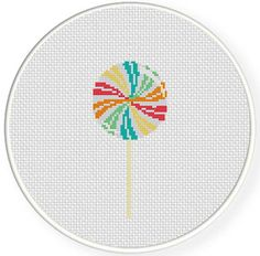 etsy lollipop gift guide: Swirl Lollipop PDF Cross Stitch Pattern by DailyCrossStitch Tiny Cross Stitch, Cross Stitch Cards, Simple Cross Stitch, Cross Stitch Designs, Cross Stitching, Cross Stitch Patterns, Beading Patterns, Embroidery Patterns, Swirl Lollipops