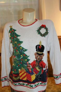 Ugly Sweater, Ugly Christmas Sweater, 25 Days Of Christmas, Trending Outfits, Handmade Gifts, Unique, Clothes, Vintage, Etsy