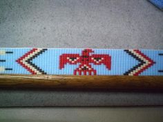 Thunderbird Beaded Hat Band ~ Native American Style Beaded Hatband | ajwhatbands - Accessories on ArtFire