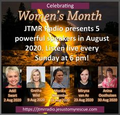 August Month, November 23, Womens Month, Great Speakers, Sunday Night, Bring It On, Content, Celebrities, 30th
