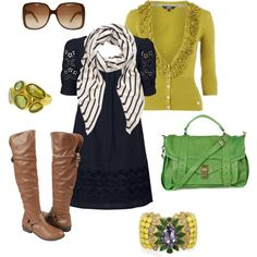 yellow green, created by htotheb on Polyvore