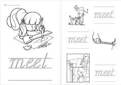 Schrijfblad VVL Kim versie kern 2 meet Daily Five, Speech And Language, Spelling, Homeschool, Education, Writing Fonts, Occupational Therapist, Language, Teaching